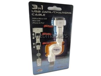 3 in 1 USB Data/Charging Cable