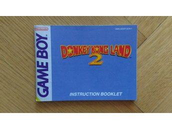 Gameboy: Manual Instruktionsbok Donkey Kong Land 2 (SCN-1)