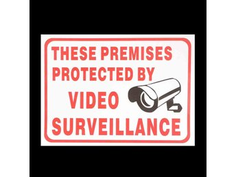 CCTV Camera Sign Sticker Self-adhensive Decal These Premi...