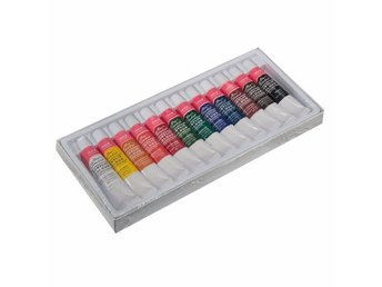 12st Färger Målarset Kit Acrylic Colour Set