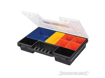 Silverline Compartment Organiser for storage small parts 8 Compartment