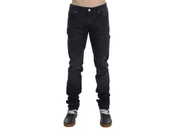ACHT - Gray Cotton Skinny Slim Fit Jeans