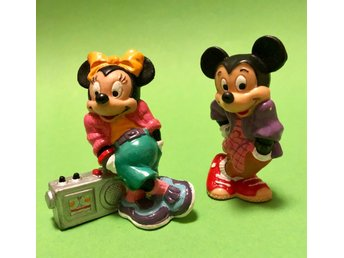 Musse o Mimmi Disney figur figurer Samlarfigur Mickey Minnie Mouse Looking Cool