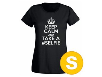 T-shirt Keep Calm And Take A Selfie Svart Dam tshirt S