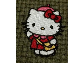 Tygmärke Hello Kitty Patch Väska rosett kawaii studentoverall