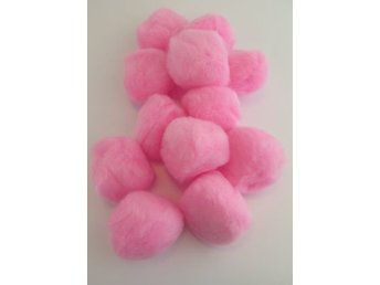 PomPoms rosa 40mm 12-pack