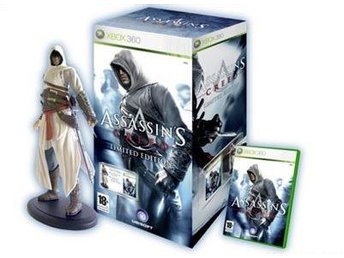 Assassins Creed Limited Edition XBOX 360 spel *SLUTSÅLD / RARE * med figuren