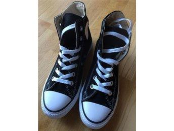 Converse skor strl 39, svarta,höga, nya - Karlskrona - Converse skor strl 39, svarta,höga, nya - Karlskrona