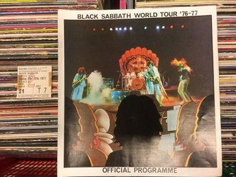 BLACK SABBATH  RARE OFFICIAL TOUR-PROGRAMME (24 P.) W. TICKET!! U.K. 1977