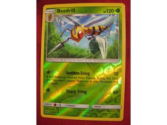 BEEDRILL - RARE REVERSE HOLO - 120 HP - POKEMON - CRIMSON INVASION 3/111