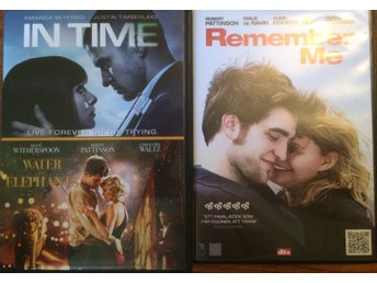 DVD-paket; In Time, Water for Elephants och Remember me.