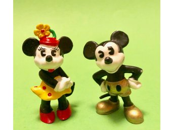 Äldre Musse och Mimmi Disney figur figurer Samlarfigur Mickey and Minnie Mouse