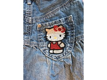 ~ HELLO KITTY jeanskjol stl 110 ~ kjol ~