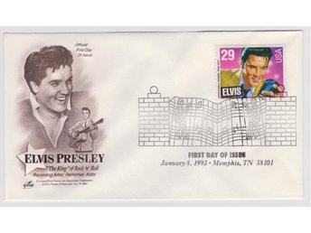 Elvis Presley FDC Canceled January 8,1993 Memphis Tennessee
