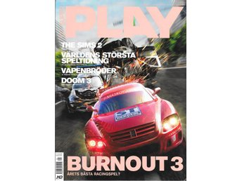 SUPER PLAY NR 103  2004 - BURNOUT 3, DOOM 3, , THE SIMS 2..
