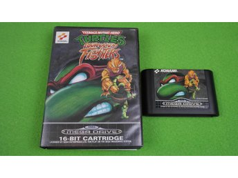 Turtles Tournament Fighters SVENSK UTGÅVA Sega Megadrive 16-bit