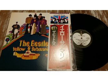 The Beatles Yellow Sumarine Japan Press mkt fin även sångtexter i fodralet