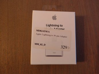 Apple lightning till 30 pin adapter