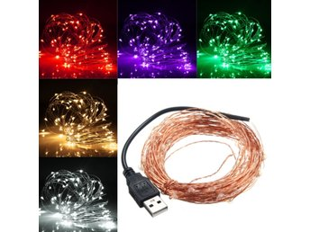 10M 100 LED USB Copper Wire LED String Fairy Light for Ch...