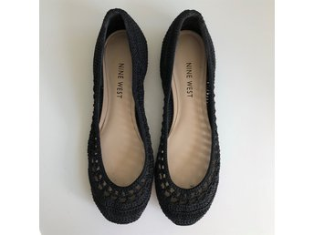 Svart Flats Ballerinas Nine West Stl 36