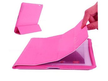 iPad 2/3/4 Magnetic fodral Cover Back Case Rosa
