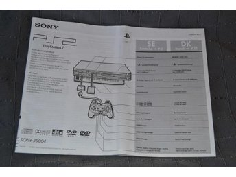 Playstation 2 Manual SCPH-39004 PS2 Instruktionshandbok Officiell 2002