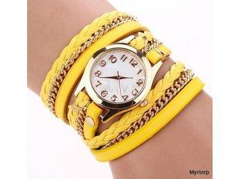 Snygg trendig Gul klocka Armband med flera remmar - örebro - Snygg trendig Gul klocka Armband med flera remmar - örebro