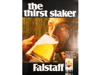 FALSTAFF BEER THE THIRST SLAKER TIDNINGSANNONS Retro 1968
