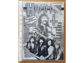 HAMMER 1/84 Black Sabbath Def Leppard Dio KISS mm