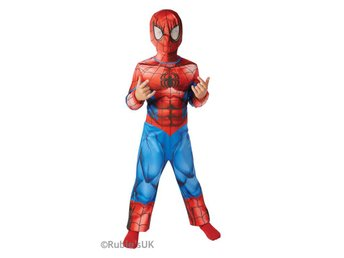 Spiderman 110/116 cl (5-6 år) Dräkt med mask Spindelmannen Marvel