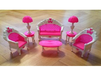 Barbie möbler - Soffmöblemang passande Barbie dockor - Hässleholm - Barbie möbler - Soffmöblemang passande Barbie dockor - Hässleholm