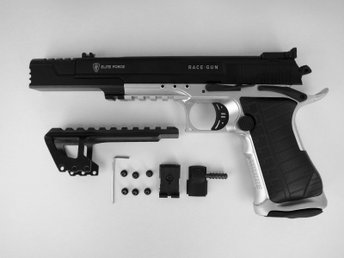 KOLSYREDRIVEN AIRSOFTPISTOL, ELITE FORCE RACE GUN, Full Metal Blowback