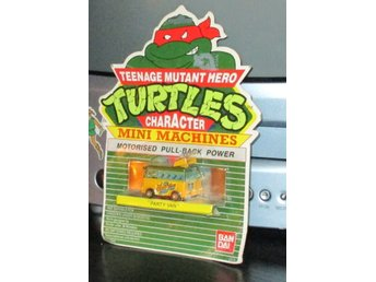 Oöppnad Turtles Party Wagon MOC 1989 (TMNT)