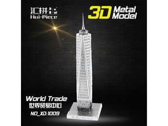 3D Pussel Metall - Berömda Byggnader - World Trade Center