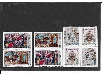 1973 F 845-848 Allmogemålningar kpl postfriskt - Växjö - 1973 F 845-848 Allmogemålningar kpl postfriskt - Växjö
