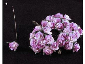23 utslagna rosor med blad, 12mm Diam. - Vallentuna - 23 utslagna rosor med blad, 12mm Diam. - Vallentuna