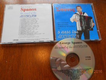 GEORGE SPANOS - The Sound Of The Accordion, Sakkaris CD Greece Sakkijarven Polka