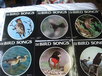 BIRD SONGS Fågelsång SR Peterson Field Guide 6 LP