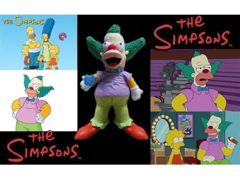 THE SIMPSONS KRUSTY THE CLOWN DOCKA 30 Cm.