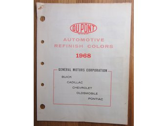 Du Pont Automotiv Refinish Colors 1968 Buick Cadillac Chevrolet Olds Pontiac USA