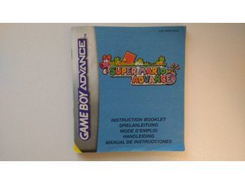 Gameboy Advance: Manual Instruktionsbok Super Mario Advance