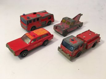 4 räddningsfordon - Corgi / Matchbox / Playart / Lesney