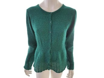 Indiska Sweater Size L Green Acrylic Sweden