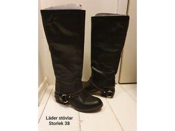 Läder stövlarboots (402915918) ᐈ Köp på Tradera