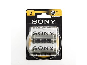 Sony Ultra D R20 1,5V zink-kolbatterier (2 stycken) - Hönö - Sony Ultra D R20 1,5V zink-kolbatterier (2 stycken) - Hönö