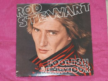 ROD STEWART - FOOLISH BEHAVIOUR - 10 LÅTARS LP + POSTER - USA 1980