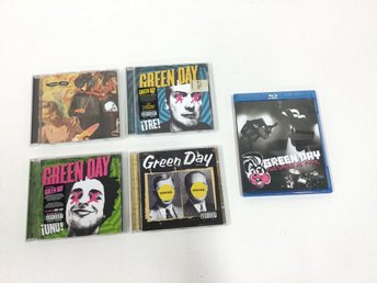 Green Day Blu-ray-film och 4 st CD-skivor