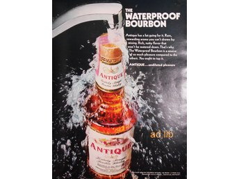 ANTIQUE BOURBON WHISKEY TIDNINGSANNONS Retro 1968