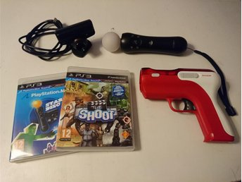 - Playstation Move Paket med Pistol & Spel PS3 -