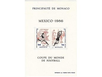 Monaco 1986. Mnr: Block nr 33 ** - Njurunda - Monaco 1986. Mnr: Block nr 33 ** - Njurunda